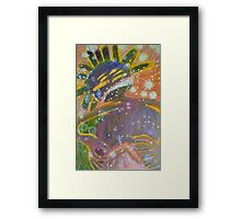 There's Death In Me Still - Abstract Portrait Framed Print