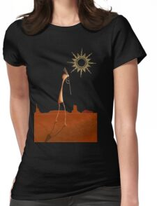 Kokopelli Comes Womens Fitted T-Shirt