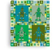 Green Robot Canvas Print