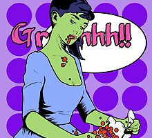 Zombie Pop Art Pin up Rabbit by TBZZ
