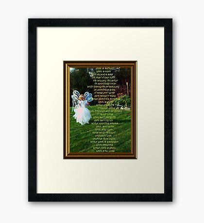The Love Chapter Poem Framed Print