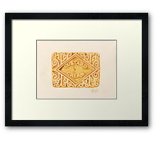 Custard Cream Framed Print