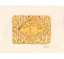 Custard Cream Photographic Print