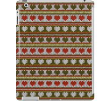 Knitted Pattern Set 15 - Hearts Green/Red iPad Case/Skin