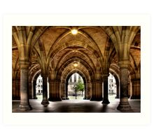 Cloisters at the University Art Print