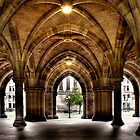 Cloisters at the University by Linda  Morrison