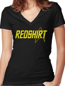 Federation Redshirt Design Women's Fitted V-Neck T-Shirt