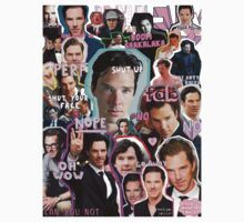 benedict cumberbatch collage Kids Clothes