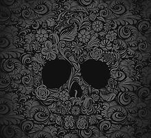 Floral Skull by ThreeBoys