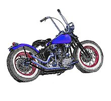 Knucklehead bobber in colour by MartinSpayne