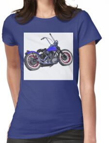 Knucklehead bobber in colour Womens Fitted T-Shirt