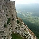 Peypertuse castle in Languedoc, France by chord0