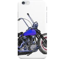 Knucklehead bobber in colour iPhone Case/Skin