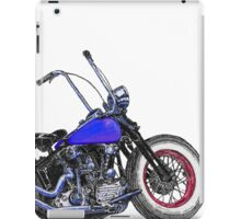 Knucklehead bobber in colour iPad Case/Skin