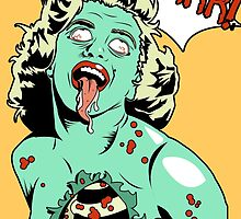 Zombie Pop Art Pin up Roar by TBZZ