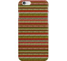 Knitted Pattern Set 17 - Red/Green/White iPhone Case/Skin
