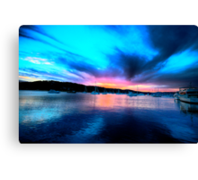 Twilight Zone - Newport - The HDR Series Canvas Print