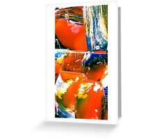 colored glass Greeting Card