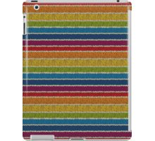 Knitted Pattern Set 19 - Rainbow 3 iPad Case/Skin
