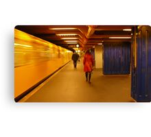 Yellow, red and blue... Canvas Print