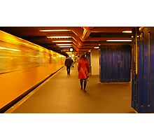 Yellow, red and blue... Photographic Print