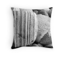 Gravel and stones Throw Pillow