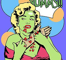Zombie Pop Art Pin up with arm by TBZZ