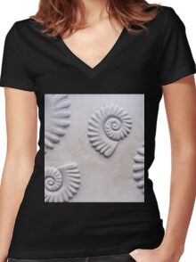 shells Women's Fitted V-Neck T-Shirt