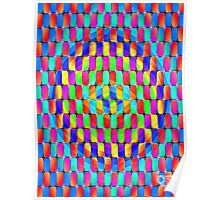 Tumblr 31 by CAP - MAGIC MOVING Optical Illusion Psychedelic Design Poster