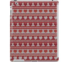 Knitted Pattern Set 20 - Red Hearts iPad Case/Skin