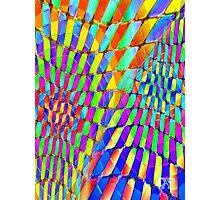 Tumblr 32 by CAP - Colorful Optical Illusion Vibrant Psychedelic Design Photographic Print