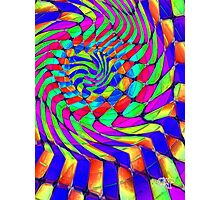 Tumblr 33 by CAP - MAGIC MOVING Optical Illusion Psychedelic Design Photographic Print
