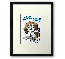 Beagle - Who, Me? Framed Print