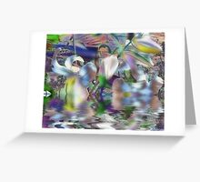 Quads abstracted Greeting Card