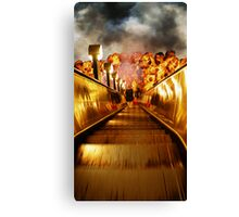 Staircase to the underground... Canvas Print
