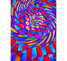 Tumblr 34 by CAP - Magic Optical Illusion Psychedelic Vibrant Colorful Design Photographic Print