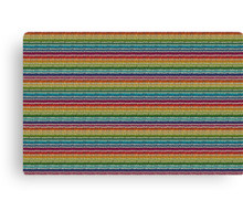 Knitted Pattern Set 21 - Rainbow 4 Canvas Print