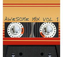 Awesome Mix Cassette Vol. 1 Photographic Print