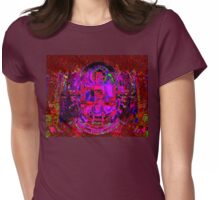 RED LACE (BUDDHA Series Var.) Womens Fitted T-Shirt