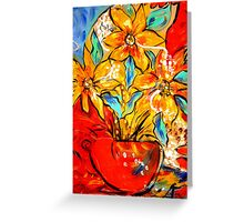 Flowers in a pot Greeting Card
