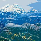 Stylized photo of Denali Mountain (Mt. McKinley). by NaturaLight