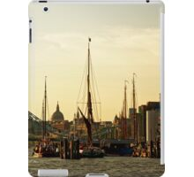 Boats on Thames River at Sunset, London, England iPad Case/Skin