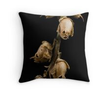 snapdragon seedpod skulls Throw Pillow