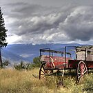Little Red Wagon of the Wild West by PrairieRose