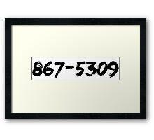 Jenny's Number (Dark) Framed Print