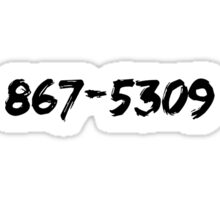 Jenny's Number (Dark) Sticker