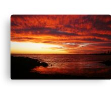Red Sky at Night, Elwood Beach Canvas Print