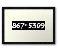 Jenny's Number (Light) Framed Print