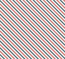 Diagonal Stripes - Red/Blue by wrapsio