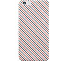 Diagonal Stripes - Red/Blue iPhone Case/Skin